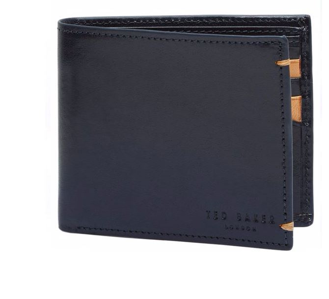 Ted Baker Aunat Men's Navy Leather Wallet