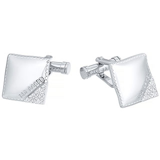 Ted Baker Stainless Steel Square Cufflinks