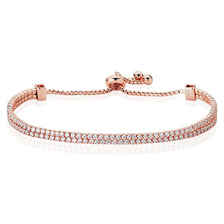 Rose Gold Plated Double Strand Bracelet