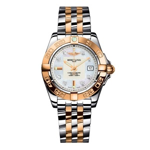 Breitling ladies' watch with steel and rose gold bracelet