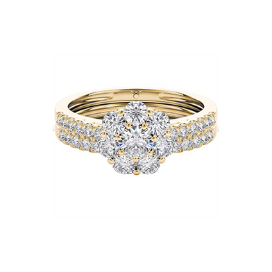 The Diamond Story 18ct Yellow Gold 1ct Diamond Bridal Set