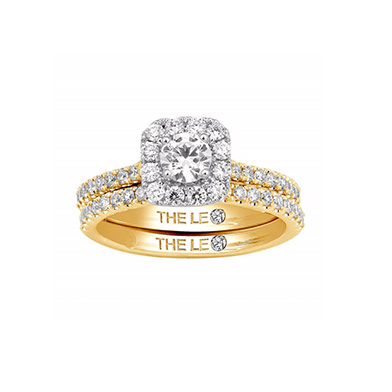 Leo Diamond 18ct gold 1ct I-I1 diamond bridal set