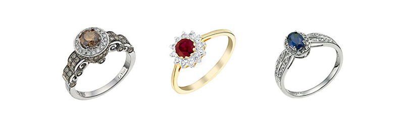 Vivid Diamond and Le Vian Engagement Rings