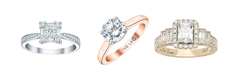 The Leo Diamond and Neil Lane Engagement Rings