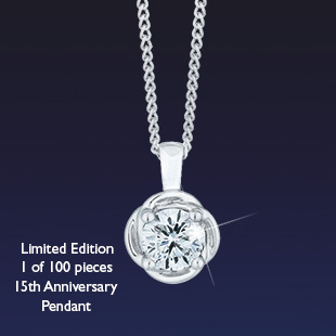 The Leo Diamond Limited Edition 15th Anniversary Pendant