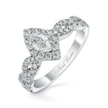 Neil Lane 14ct white gold 0.87ct diamond marquise ring