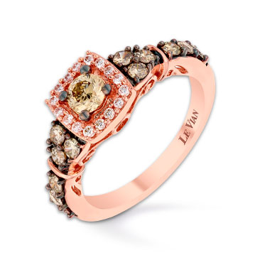 Le Vian 14ct Strawberry Gold Vanilla Diamond ring