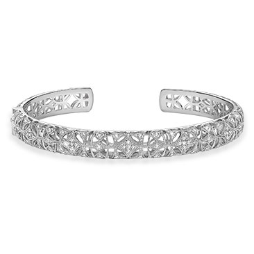 Neil Lane Designs Sterling Silver 0.31ct Diamond Bangle