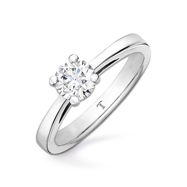 Tolkowsky 18ct white gold 0.50ct I-I1 diamond ring