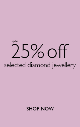 25% offf on selected diamond jewellery