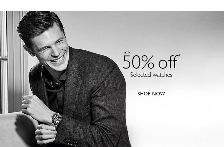 Up to half price sale watches