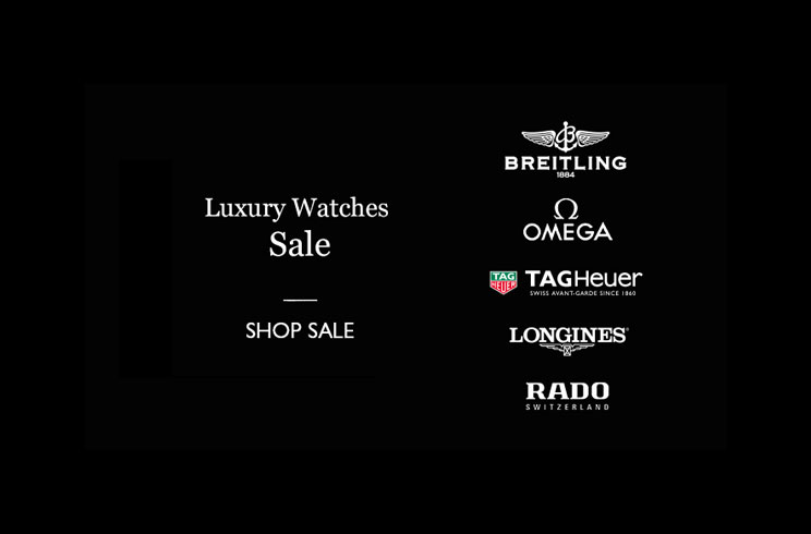 Luxury watches sale - shop now