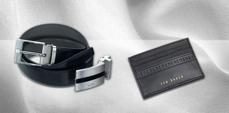 Hugo Boss and Ted Baker leather gifts from Ernest Jones