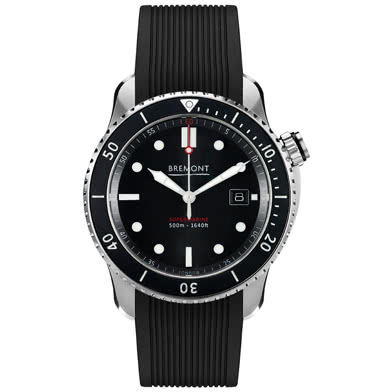 Bremont Supermarine S500 Men's Black Rubber Strap Watch