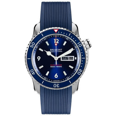 Bremont Supermarine S500 Men's Blue Rubber Strap Watch