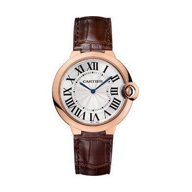 Ballon Bleu de Cartier. 40mm diameter case in 18ct pink gold. Extra-fl at. Calibre 430 MC. Mechanical movement.