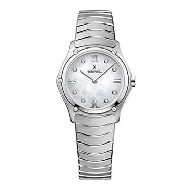 Stainless Steel Mother of Pearl Dial Diamond Bracelet Watch
