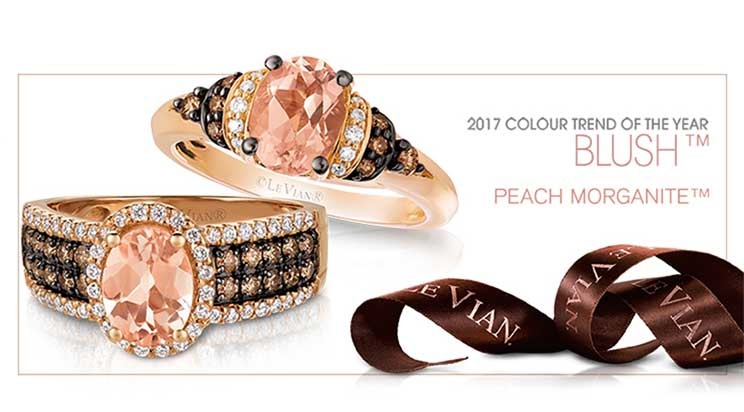 Le Vian Peach Morganite 2017 colour trend of the year