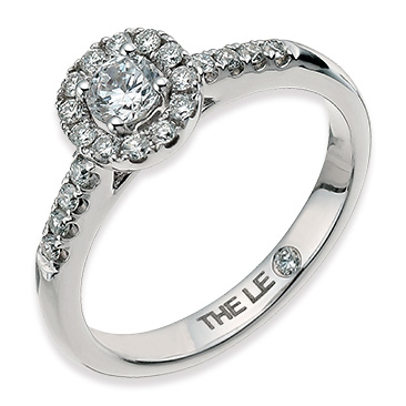 The Leo Diamond halo rings