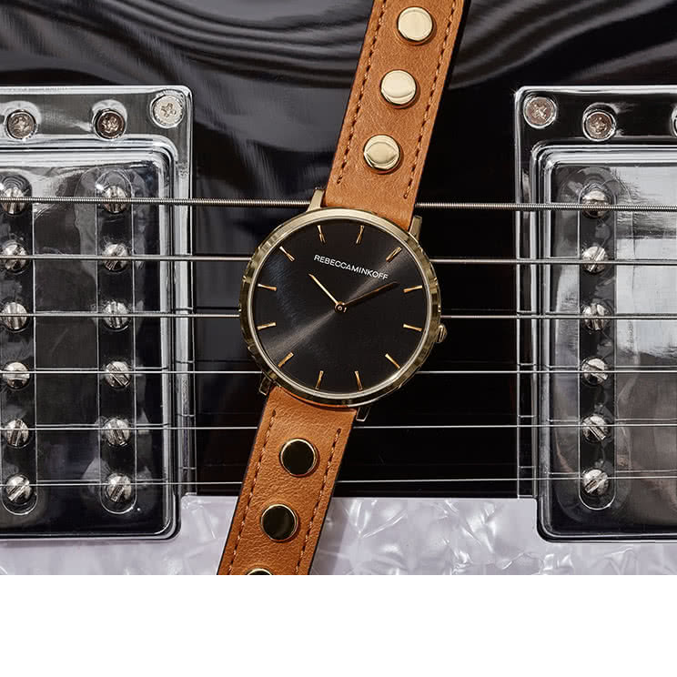 STUDDED LEATHER WATCHES