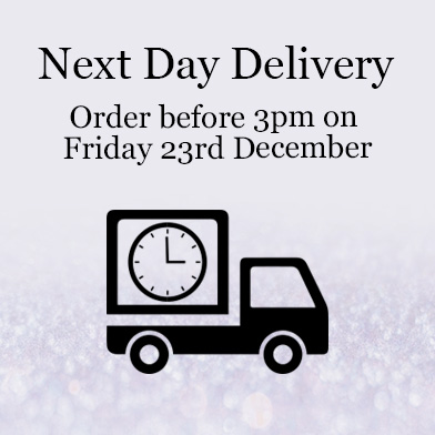 Next Day Delivery - order before 3pm on Friday 23rd December