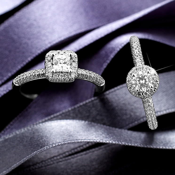 Engagement rings at Ernest Jones