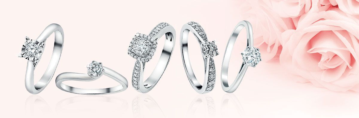 Diamond rings at Ernest Jones