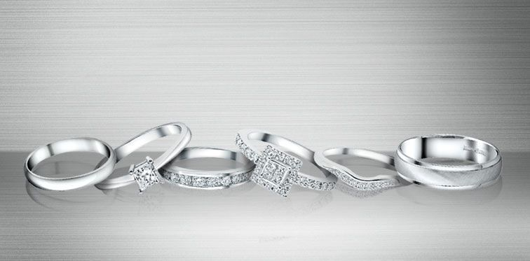 Platinum Wedding Rings available at Ernest Jones