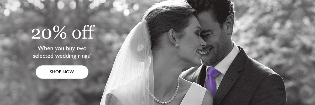 20% off selected wedding rings - Shop Now